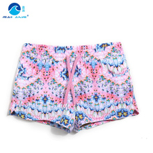 Women board shorts swimming short female swimsuits Geometric pattern sexy quick dry white running shorts joggers bodybuilding