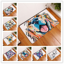 2017 New Big Dog Print Carpets Non-slip Kitchen Rugs for Home Living Room Floor Mats 40x60cm