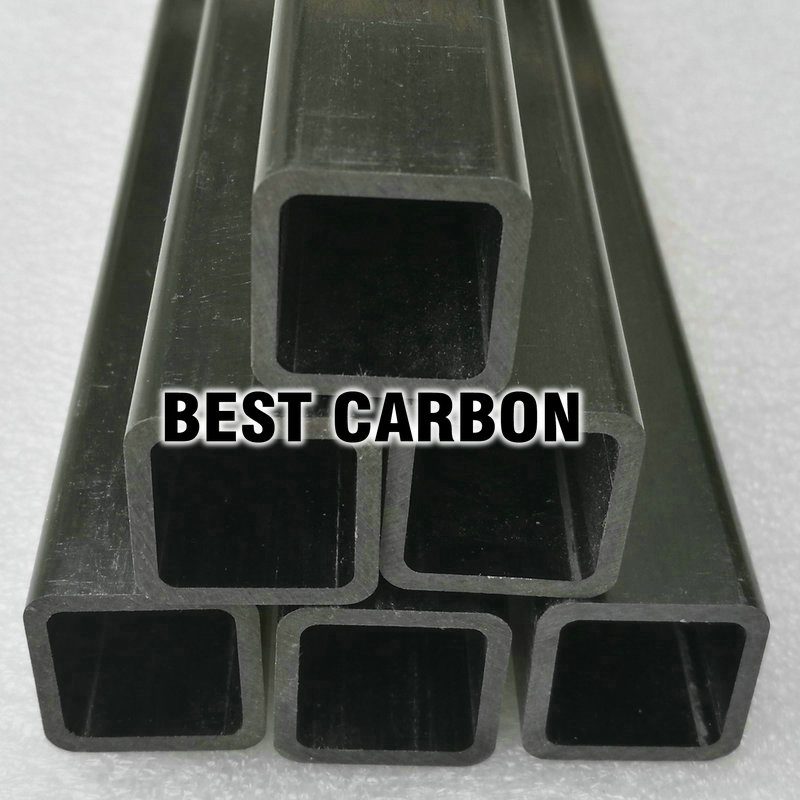 20mm x 16mm  x 1000mm Epoxy Pultruded Square Carbon Fiber Tube<br>