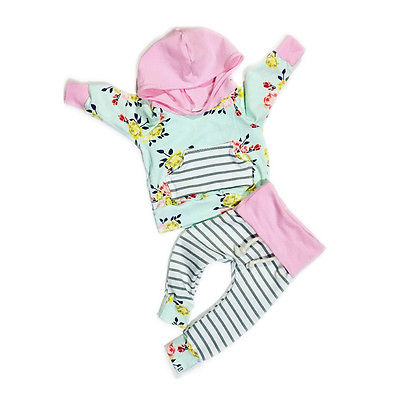 Newborn Baby Girls Infant Romper Jumpsuit Hooded Clothes Outfit 0-3Y baby set toddler girl clothing sets kids clothes 2016 New<br><br>Aliexpress