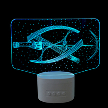 Star war fighter Rechargeable Home Decor Lampa LED Light 3D USB Bluetooth Speaker Lamp Music Table Nightlight Nursery Lamp