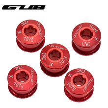 Buy GUB 5pcs Disc Screws Super Light Chain Ring Wheel Bolt Road MTB Bicycle 7075 T6 Alloy CNC Crankset Bike Parts Bicicleta M6 M8 for $6.09 in AliExpress store