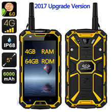 "2017 Upgrade original CONQUEST S8 Rugged Waterproof Phone 4GB RAM Octa Core 5"" 1920x1080 16.0MP Android 6.0 Ip68 GPS 4G LTE"