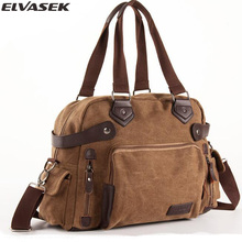Elvasek fashion men shoulder michael hors handbags messenger bolsa canvas bag high capacity crossbody bags male totes DH2003