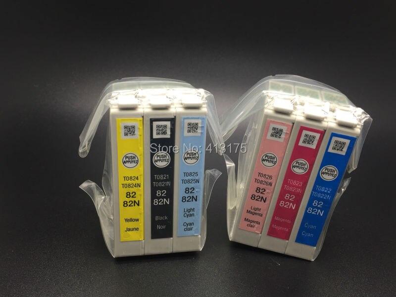 Ink cartridge model T0821N T0822N T0823N T0824N T0825N T0826N genuine ink cartridges For Epson T50 T59 TX700W TX800FW TX810FW pr<br>