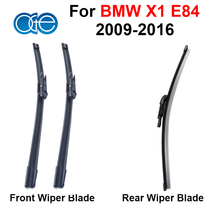 Combo Silicone Rubber Front And Rear Windscreen Wiper Blade For BMW X1 E84 2009-2016 Windshield Best Auto Accessories
