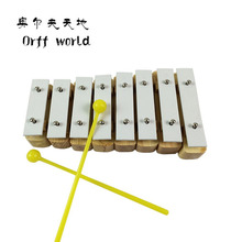Orff World Education Aluminum Wooden  Xylophone For Children Kid Musical Toys Xylophone Wisdom Juguetes 8-Note Music Instrument