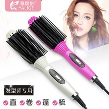 Hair Curling Iron Brush Ceramic Hair Curler Rollers Comb Electric Hair Straightening Iron Pente Styling Tools EUROPE/USA plug