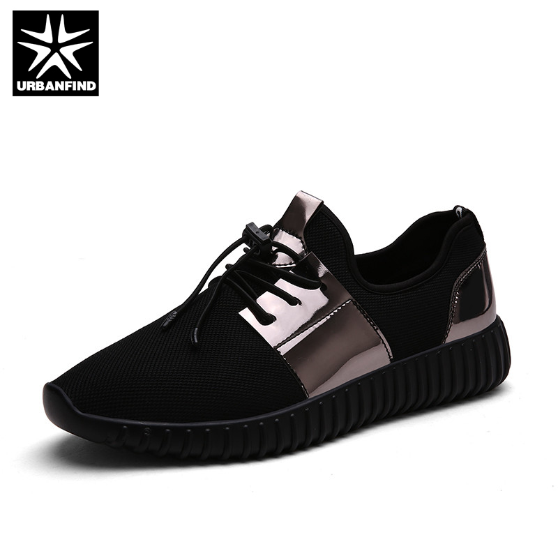 URBANFIND Men Fashion Casual Shoes Autumn Spring Footwear Size EU Size 38-44 Black Gold Silver Man Breathable Lace-up Shoes<br><br>Aliexpress