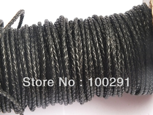 3MM~100m/lot black leather cords hot on sale (FREE SHIPPING) MWN8954