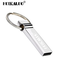 HUIKALUO U disk metal usb flash drive 4gb 8gb pendrive 16gb USB stick 32 gb memory stick 64gb usb flash drive with key Ring(China)