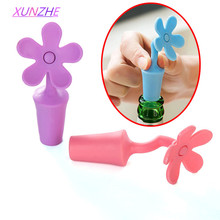 4Pcs/pack Bottle Stopper silicone flowers Novelty Bar Tools Wine Stoppers Bottle Fork Funny Interesting Gifts(China)