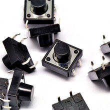 20PCS Switch 12X12X8MM micro switch touch switch button switch import shrapnel 12*12*8(China)