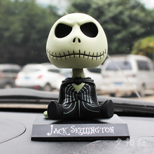 PVC Jack Skeleton Action Figure Shaking Head Doll Car Dashboard Decoration Ornaments The Nightmare Before Christmas jack Toys(China)