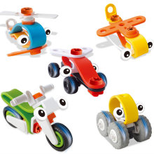 Five pieces of demolition building blocks children creative  pieces of wood assembly car Plastic 5 optional 3-6 years old