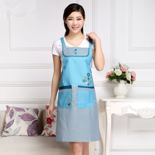 2017 Fashion korean apron flower pattern design waterproof kitchen cool cute kitchen aprons sleeveless tablier serveur