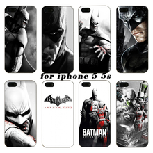 for iphone 5 5s Phone Case Batman for iphone 5G black PC hard cover phone shell Batman series on case for iphone 5 5s