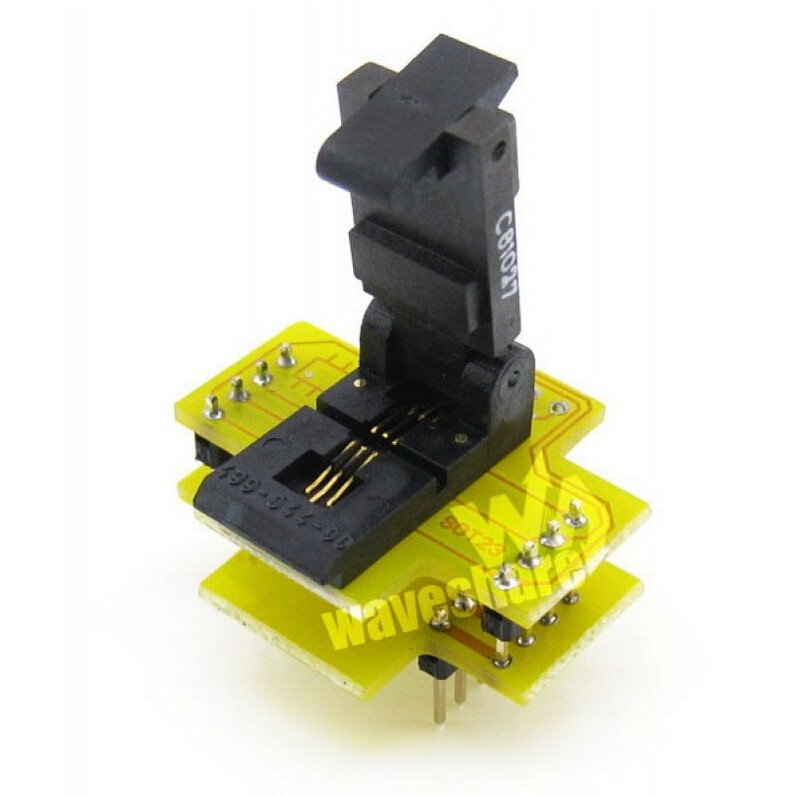 PIC SOT23 TO DIP8 (B) Programming Adapter Test Socket Wells IC Programming Adapter, especially for PIC SOT-23 package<br>