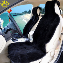 UNIVERSAL HOT SALE STYLING NATURAL SHEEPSKIN CAR SEAT COVER AUTO INTERIOR ACCESSORIES FREE SHIPPING AUTOMOTIVE CAR SEAT COVERS(China)