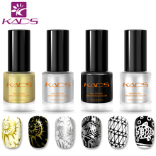 KADS New Arrival Classic Nail Polish Color Nail Stamping Polish Two In One Nail Polish Set 4PCS Nail Stamping Lacquer(China)