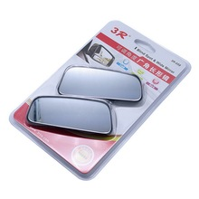 1 Pair/2 pcs 3R-059 Car Plastic Rear View Mirror Adjustable Wide Angle View Paste Type Auxiliary Mirrors Black(China)