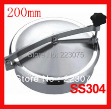2014 Hot Sale Stainless Steel New Arrival 200mm Ss304 Circular Manhole Cover Without Pressure, Height:100mm Tank Hatch