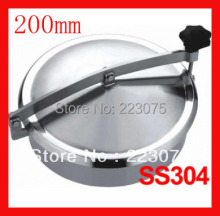 Hot Sale Stainless Steel New Arrival 200mm Ss304 Circular Manhole Cover Without Pressure, Height:100mm Tank Hatch(China)