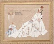 Fishxx Cross Stitch,E017 portrait [Wedding dress]European wedding beaded,14CT,Need to embroidery(China)