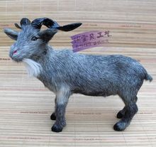 big size simulation gray goat toy polyethylene & furs lucky sheep doll gift about 33x17x28cm 880