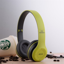 Wireless Bluetooth Headset Foldable headphones Stereo Audio Earphone Oreillette With Mic Support FM Radio/TF Card for Phone PC