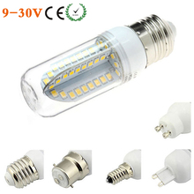 E27/E14 LED Ceilling Boat Bulb 12V 24V AC/DC E12/E26/G9/GU10 LED Chandelier Lamp Bombillas 84 SMD 2835 9V-30V White Warm White(China)