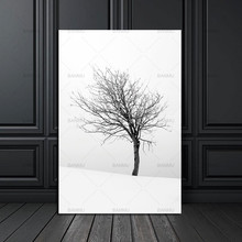 nordic poster Canvas Painting home decor art Prints Tall Trees Forest Natural Wall Pictures Living Room Art Decoration Picture(China)