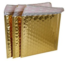 1-13 Joy, 15*13cm gold bubble bag, poly mailers envelopes , shipping bubble envelopes , small padded envelopes