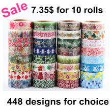 342 Patterns for choice TOP Best Selling 10pcs/lot Decorative Adhesive Paper Tape and flower masking Washi Tape lot