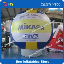 free air shipping to door,5M/16.5ft in stock!advertising giant inflatable volleyball Model ground ball for event(China)