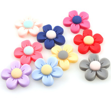 Mixed Style Matt Flowers 50pcs/lot Flat Back ResinsCabochon Scrapbook, 3D Resin Flower With Stamen  Fit Phone Embellishment