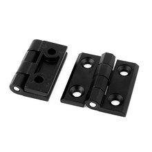 UXCELL 50Mm X 50Mm Zinc Alloy Closet Cupboard Cabinet Door Butt Hinge Black 2Pcs