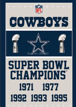Dallas Cowboys Super Bowl Champions Man Cave Sports Banner Basketball Flag 3' x 5' Custom Hockey Baseball Football Flag