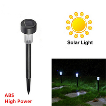 Waterproof solar lamps white ABS Spot Light brightness DIY Decor Solar LED Path Light Outdoor Garden Lawn lightings sale deal
