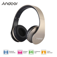 Andoer Digital 4 in 1 Wired Wireless Headphone Bluetooth Headset Earphone Hands-free w/ Mic MP3 Player TF FM Radio for iPhone