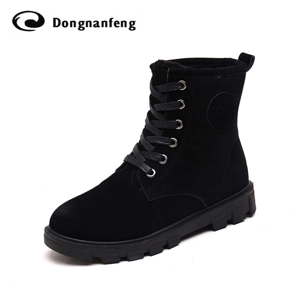 New Hot Snow Rain Fashion Winter Fur Rubber Soles Plush Womens Boots Suede Shoes Lace Up Ankle Round Toe Superstar Flats QX-K27<br><br>Aliexpress