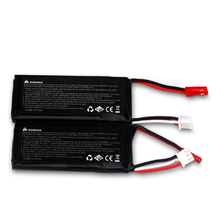 2pcs High Performance Batter Hubsan 7.4V 610mAh 15C 2s 4.5wh LiPo Battery For RC Helicopter rechargeable battery RC Parts(China)