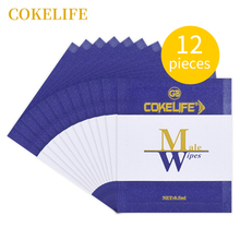 Buy 12pc COKELIFE Male Delay Wipes Natural Wet Tissue Man Sexual Prolong Retardant Ejaculation Enhancer Pleasure Sex Wipes Adul