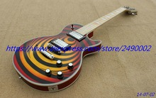 LP Custom Electric Guitar,ZAKK model,cherry burst, chrome parts.High Quality, Wholesale & Retail, Real photo showing