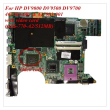 For HP DV9000 DV9500 DV9700 series 461069-001 447983-001 Laptop motherboard G86-700-A2 512MB mainboard 100% Tested Free Shipping