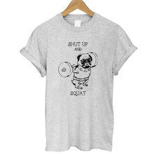 Top Quality 100% cotton women T shirt casual loose design o-neck women cute pug print T-shirt 2017 new Tshirt cute Tee shirt(China)