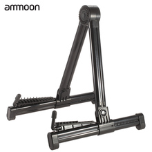 ammoon Portable A-frame Guitar Stand Holder Bracket Mount Foldable Universal for Acoustic Classical Electric Guitar Ukulele Bass