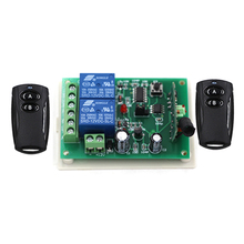 High Quality Black Color 24V 2CH RF Wireless Remote Control Switch 2pcTransmitter +Receiver Household Appliances/Lamp 315MHZ