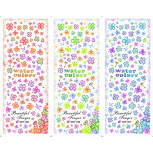 3 PACKS / LOT FLOWER GINKGO NAIL TATTOOS STICKER WATER DECAL NAIL ART HOT055-057(China)