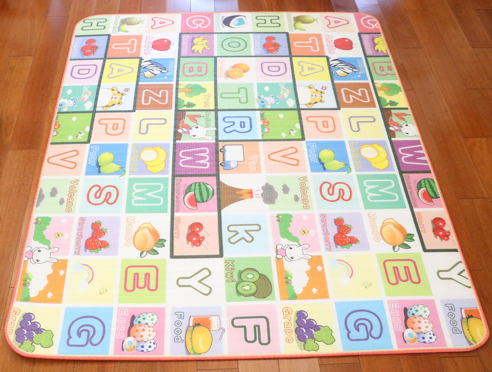 10 mm Thick Double Sides Children Play Mat Waterproof Kids Beach Picnic Mat Soft Eva Foam Carpet Rug Baby Crawling Mat Baby Toy 55
